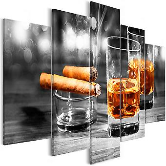Canvas Print - Cigars and Whiskey (5 Parts) Wide