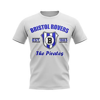 Bristol Rovers Established Football T-Shirt (Blanc)