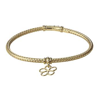 Orphelia 925 Silver Bracelet Gold Color Zirconium Flower