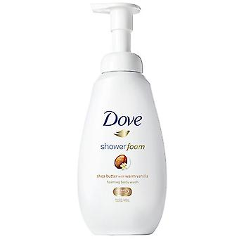 Dove shower foam shea butter with warm vanilla, 13.5 oz
