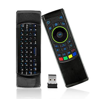 Magicsee fm5s plus 2.4g mini keyboard air mouse ir learning remote