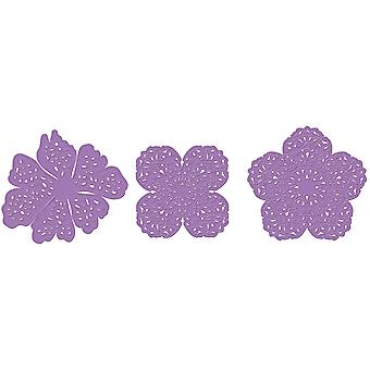 Prima Marketing Purple Metal Die-Emmanuelle Fleurs 3/Pkg 584085
