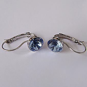 Kolczyki kropla niebieski kryształ EMB7.2