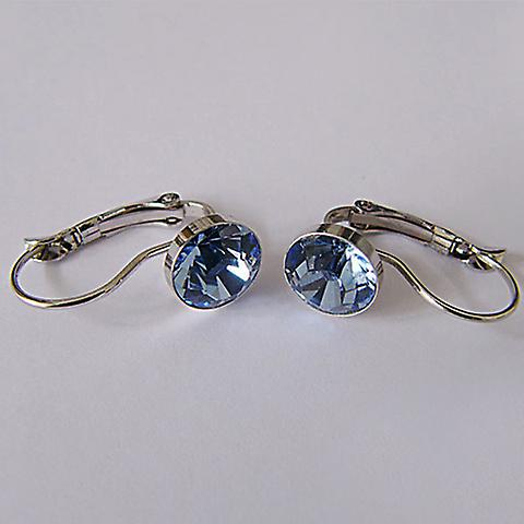 Blue crystal drop earrings EMB7.2