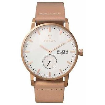 Triwa Unisex White Dial Leather Strap Rose Falken FAST101-CL010614 Watch
