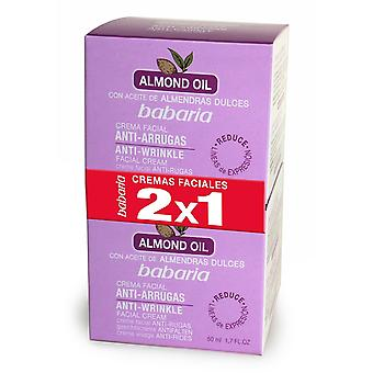 Babaria Anti-Wrinkle Facial Cream Almond 2x1