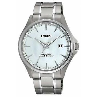 Lorus fecha titanio pulsera correa RS933CX9 Watch de Men