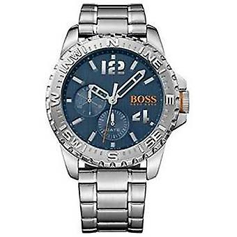 Hugo Boss Orange Mens Reykjavik in acciaio inox orologio da polso quadrante blu 1513424