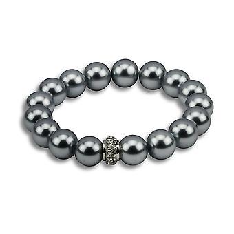 Katrina dark metallic bead bracelet