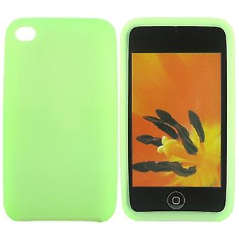 Siliconen case-iPod Touch 4 (groen)