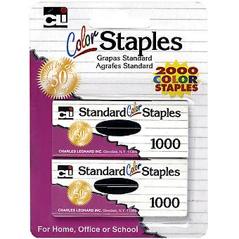 Color Staples 2,000/Pkg-Assorted CL80262