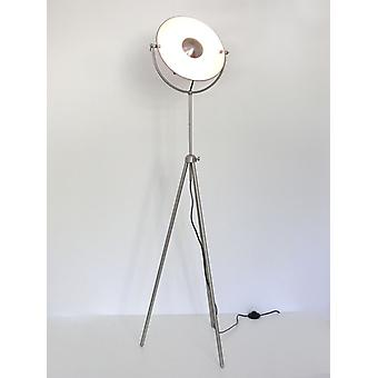 Retro floor lamp, Tripod Studio lamp Alona nickel matt Kiom 10318