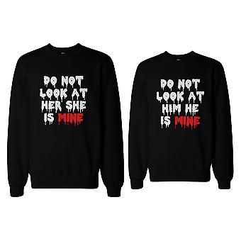 Schaut nicht auf sie oder ihn unheimlich paar Sweatshirts lustige passenden Pullover