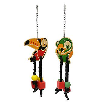 Woodies Birdy Danglers Parrot Toys (Pack of 6)