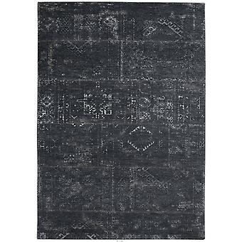 Distressed Atlantic Deep Tribal Flatweave Rug 170 x 240 - Louis De Poortere