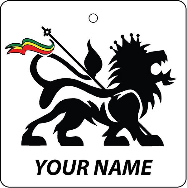 Personalised Lion Of Judah Car Air Freshener