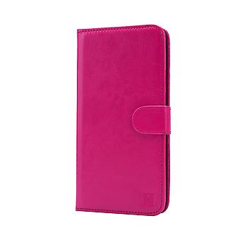 Book wallet + stylus for Alcatel Pixi 4 (6.0) 4G OT-9001 - Hot Pink