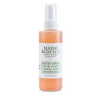 Facial Spray With Aloe Herbs & Rosewater - For All Skin Types - 118ml/4oz