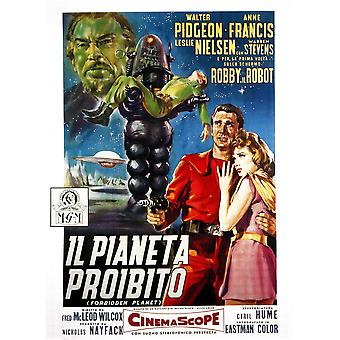 Forbidden Planet Robby The Robot Leslie Nielsen Anne Francis 1956 Movie Poster Masterprint