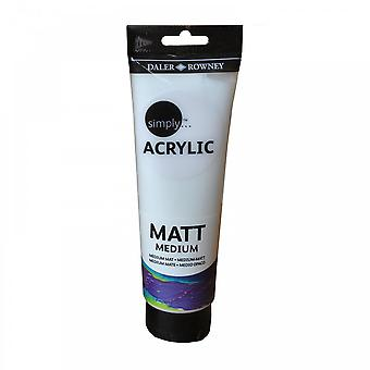 Daler Rowney simplement acrylique Matt médium (250ml)