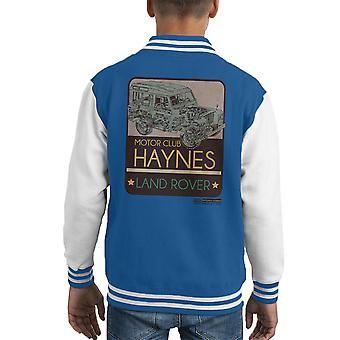 Haynes Motor Club Land Rover Kid Varsity Jacket