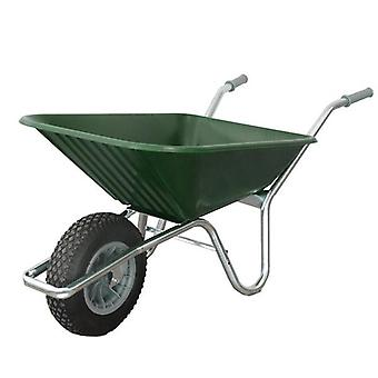 County Prime Clipper 90L Green Garden Wheelbarrow