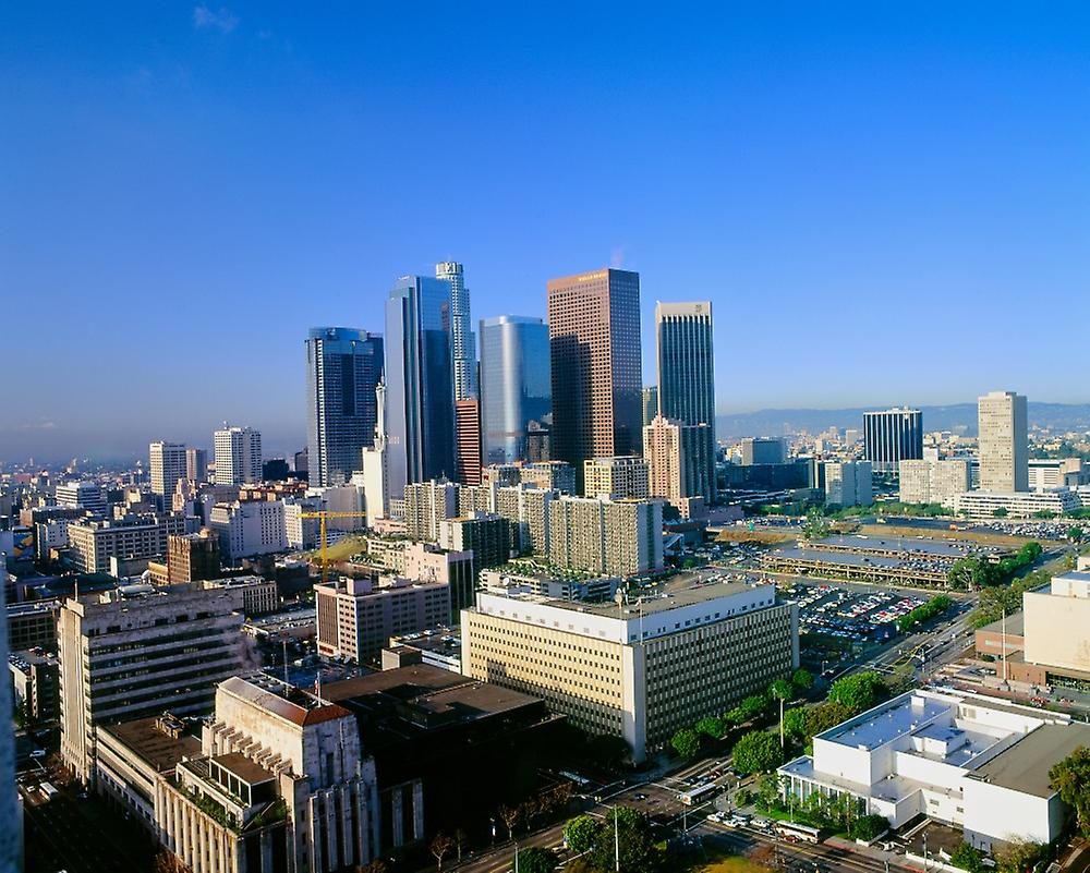 Los Angeles Skyline from City Hall California Poster Print by Panoramic Images (28 x 22)