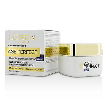 L'oreal Age Perfect Re-Hydrating Night Cream - For Mature Skin - 50ml/1.7oz