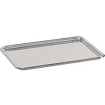 De Buyer Cake Tray Inox, 24x19 cm With Round Edges