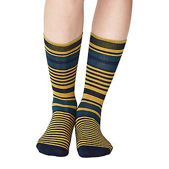 Imogen women's super-soft bamboo crew socks in navy | By Thought