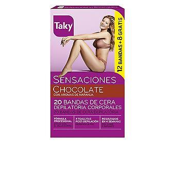 Taky Schokolade Bandas De Cera Corporales Depilatorias 12 + 8 Uds für Frauen