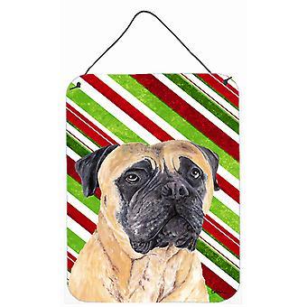 Mastiff  Holiday Christmas Aluminium Metal Wall or Door Hanging Prints