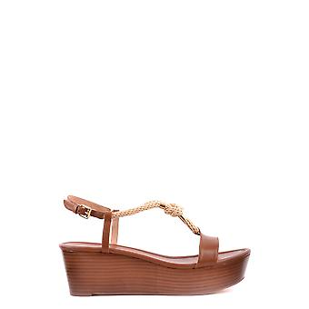 Michael by Michael Kors women's MCBI208100O brown leather sandals