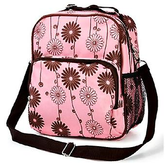 Pink Floral Baby Changing Bag Rucksack Set