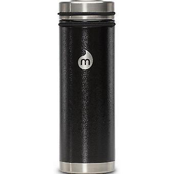 Mizu V7 rustfrit stål flaske med kaffe låg - Hammer maling sort