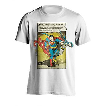 DC Comics Mens Superman Flash And Batman Comic T Shirt