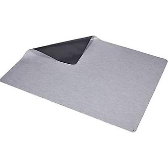ESD floormat Grey (L x W x H) 2000 x 1500 x 2 mm Wolfgang Warmbier incl. PG cable