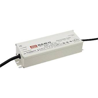 Mean Well CLG-60-12 LED driver, LED transformer Constant voltage, Constant current 60 W 0 - 5 A 8.4 - 12 Vdc not dimmabl