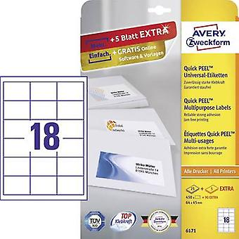 Avery-Zweckform 6171 Labels (A4) 64 x 45 mm Paper