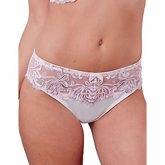 Guy de France 14922-181-004 Women's White Solid Colour Lace Knickers Panty Brief