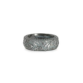 Azhar men's 164DARKGRAY24 grey metal ring