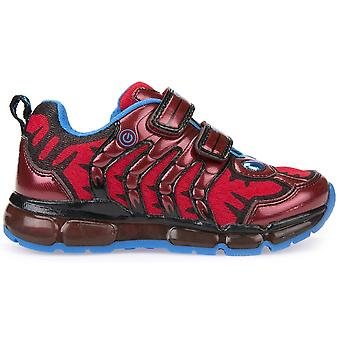 Geox Boys Android J8244B Lights Trainers Red