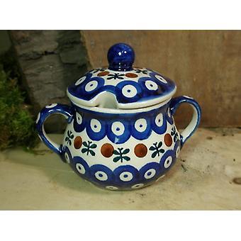 Suikerpot, hoogte 10 cm, diameter 12 cm, traditie 6 - Pools aardewerk - BSN 22009