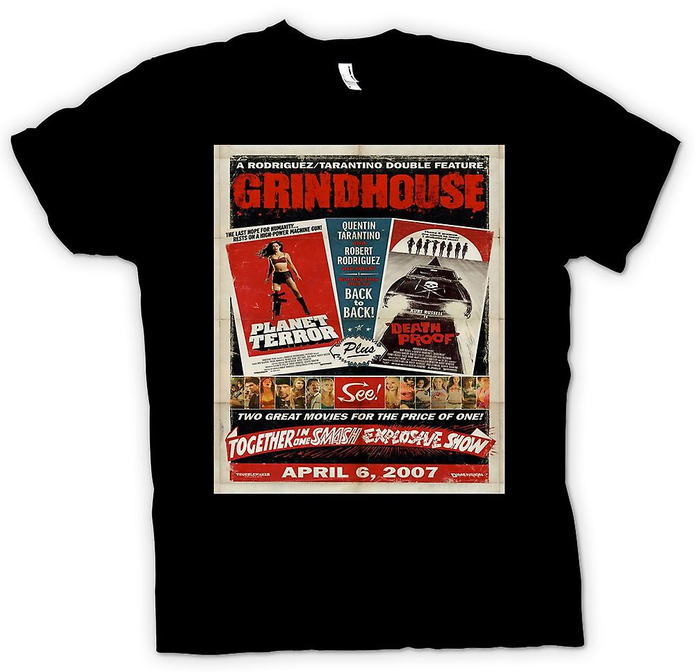 Womens T-shirt-Grindhouse-Planet Terror / Death Proof