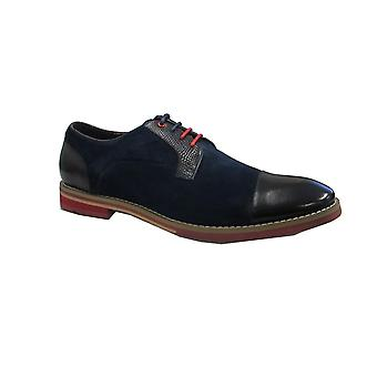 Justin Reece Mens Shoe Zach Navy