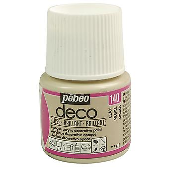 Pebeo Deco Water-Based Glossy Colours 45ml (140 Clay)