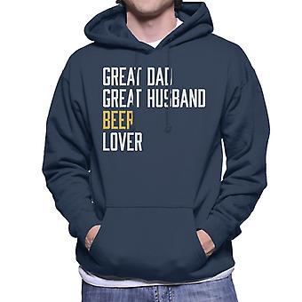 Great Dad Great Husband Beer Lover Men's Hooded Sweatshirt