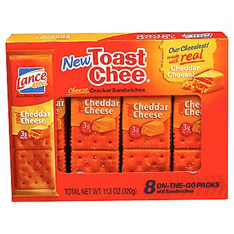 Lance Toast Chee Cheddar Cheese Sandwich Crackers 2 Box Pack