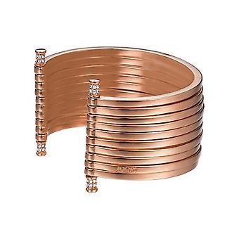 Joop women's bracelet stainless steel Rosé STRIPES JPBA00001C580