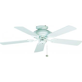 Ceiling Fan Mayfair White with Pull Cord 107cm / 42